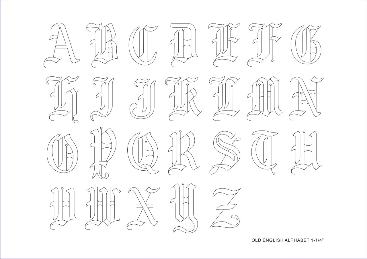 Old english alphabet set 1 14 anz leather and hobby crafts old english alphabet set 1 14 thecheapjerseys Gallery